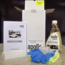 recycled glass worktop care kit