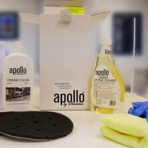 Solid surface care & maintenance kit.