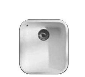 Apollo solid surface single bowl white