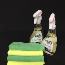 apollo stone guard worktop cleaner plus microfibre cloths