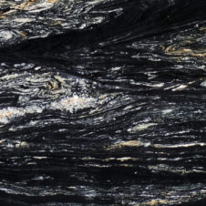 cosmic black leathered granite