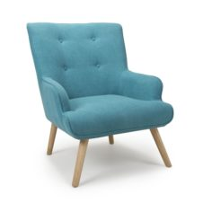 Cinema Chenille Effect Turquoise Blue Armchair