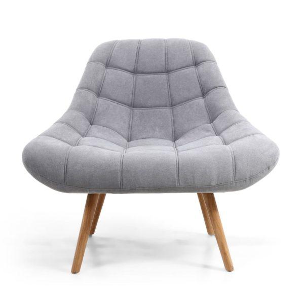 Shell Light Grey Armchair