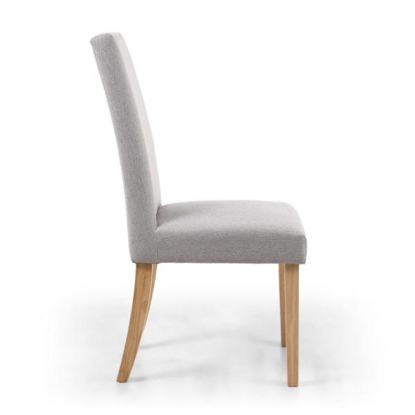 Ridley Herringbone Plain Cappuccino Dining Chair in Natural Legs