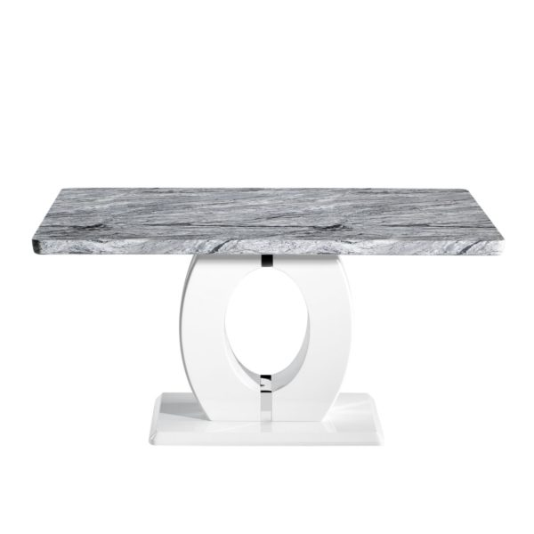 Neptune Medium Marble Effect Top Dining Table