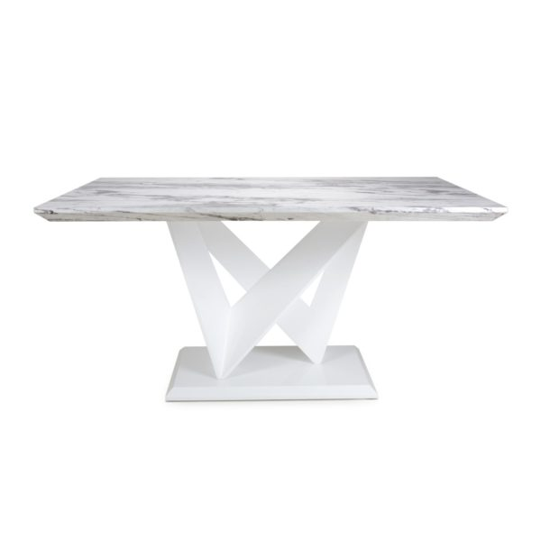 Saturn Medium Marble Effect Top Dining Table