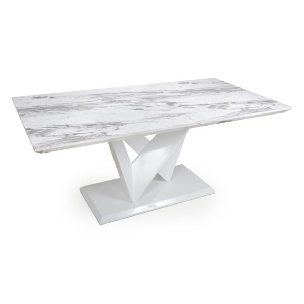 Saturn Large Marble Effect Top Dining Table