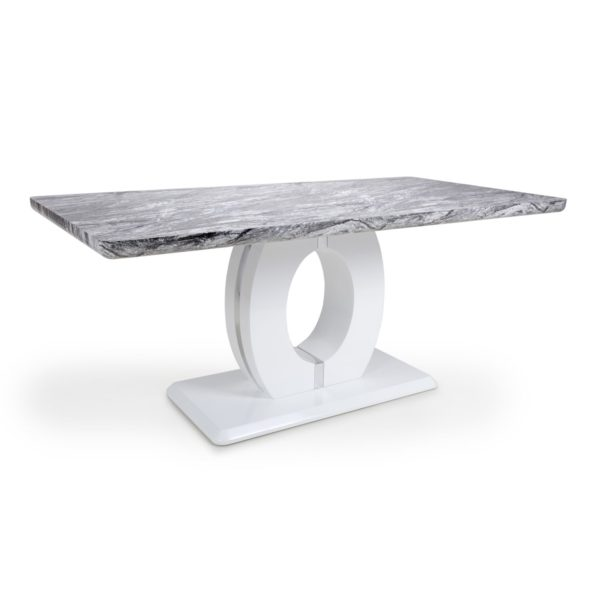 Neptune Large Marble Effect Top Dining Table