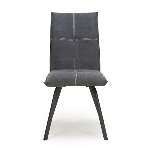 Ariel Linen Effect Dark Grey Dining Chair