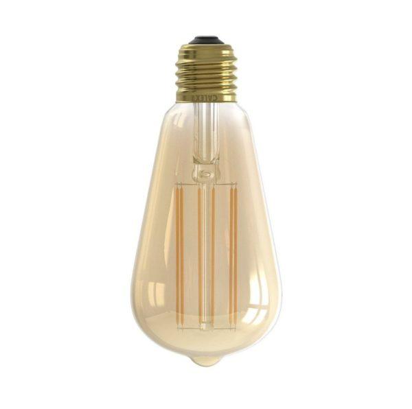 E27 4W LED GOLD EDISON SQUIRREL CAGE FILAMENT BULB